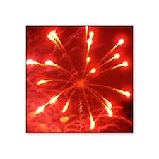 "fireworks_square Square Sticker 3"" x 3"""