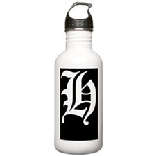 Gothic Initial H Water Bottle