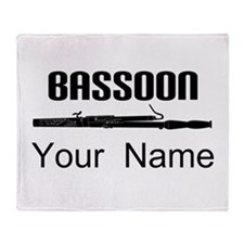 Personalized Bassoon Music Throw Blanket