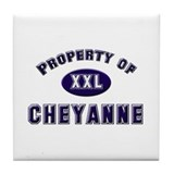 Property of cheyanne Tile Coaster