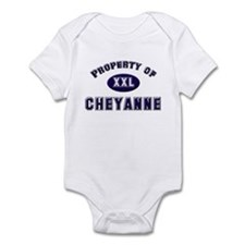 Property of cheyanne Infant Bodysuit