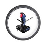 Worn Retro Joystick Wall Clock