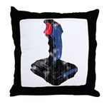 Worn Retro Joystick Throw Pillow