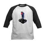 Worn Retro Joystick Kids Baseball Jersey
