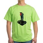 Worn Retro Joystick Green T-Shirt