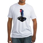 Worn Retro Joystick Fitted T-Shirt