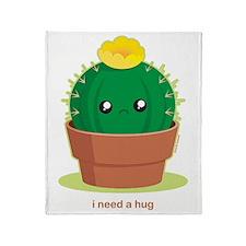 lonelycactus Throw Blanket