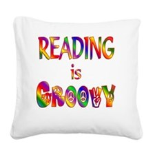 READING Square Canvas Pillow