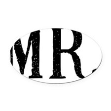 MR Black Oval Car Magnet