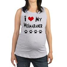 I-Love-My-Weimaraner Maternity Tank Top