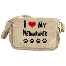 I-Love-My-Weimaraner Messenger Bag