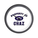 Property of chaz Wall Clock