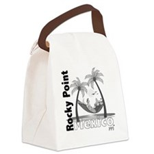 ppjhamockseparatedblackonwhite Canvas Lunch Bag