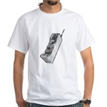 Worn 80's Cellphone White T-Shirt