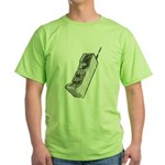 Worn 80's Cellphone Green T-Shirt