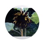 Dark Sunflower Ornament (Round)