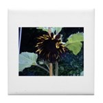 Dark Sunflower Tile Coaster