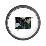 Dark Sunflower Wall Clock