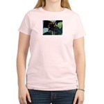 Dark Sunflower Women's Pink T-Shirt
