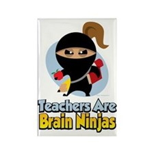 Teachers-Are-Brain-Ninjas Rectangle Magnet