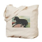 Blue Black Lab Tote Bag