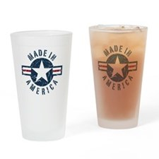 Made in USA-blue Drinking Glass