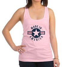 Made in USA-blue Racerback Tank Top