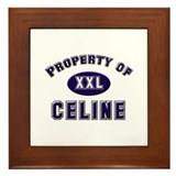 Property of celine Framed Tile