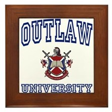OUTLAW University Framed Tile