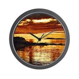 Machrihanish Sunset Wall Clock