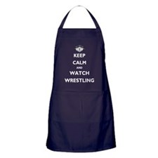Keep Calm - White Text REV1 Apron (dark)