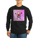 I Love You This Much Pink Long Sleeve Dark T-Shirt