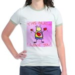 I Love You This Much - Pink - Jr. Ringer T-Shirt