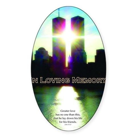 TWIN TOWERS POSTER FOR ALEX 7 Decal