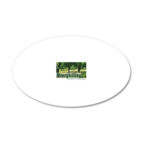 storytelling the orig soc me 20x12 Oval Wall Decal
