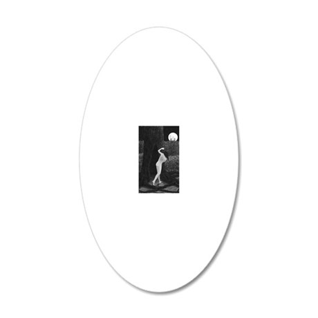 Hollow 20x12 Oval Wall Decal