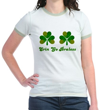 Erin Go Braless Jr. Ringer T-Shirt