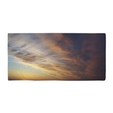 autumn sunset Beach Towel