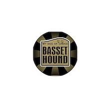 Basset Hound Dog Choice Lover Mini Button