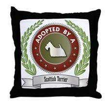 Scottie Adopted Throw Pillow