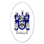 Wilkinson Coat of Arms Crest Oval Sticker