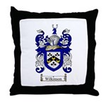 Wilkinson Coat of Arms Crest Throw Pillow