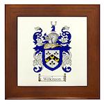 Wilkinson Coat of Arms Crest Framed Tile