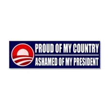 Cute No obama Car Magnet 10 x 3
