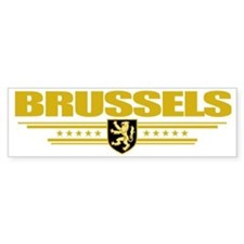 Brussels COA (Flag 10) pocket Bumper Sticker