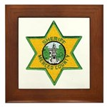 Merced County Sheriff Framed Tile