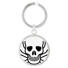 MGS_skull_and_crossbone Round Keychain