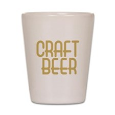 craft beer or nothing_dark Shot Glass