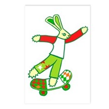 Skate Board Bunny Postcards (Package of 8)