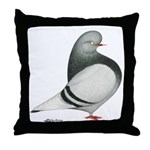 Silver Domestic Flight Throw Pillow